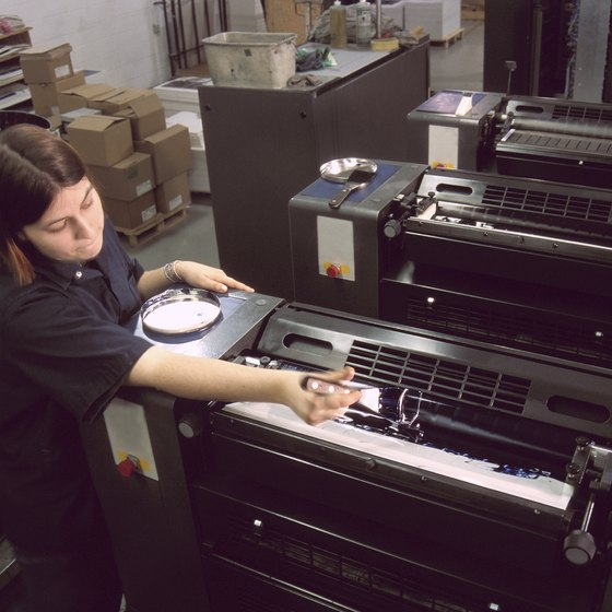 Inkjet printers vary in size, from small desktop to large commercial models.