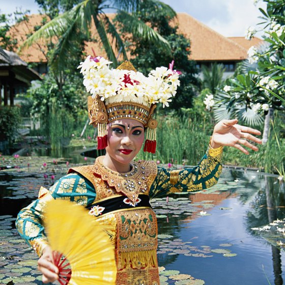 Traditional Balinese dancers practice the Legong, a precisely choreographed dance performance.