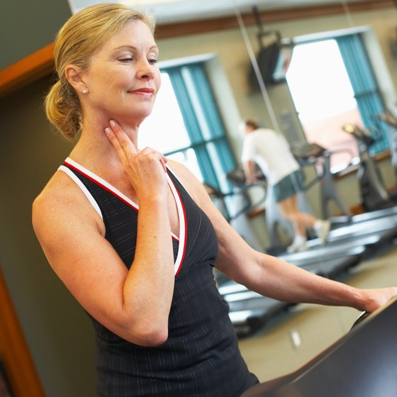 Check your heart rate regularly when performing cardiovascular and aerobic workouts.