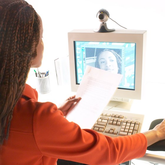 Employees in different locations can use ooVoo or Skype for video calls.