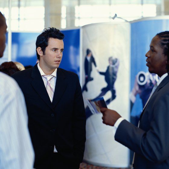 An effective exhibition stand encourages potential customers to stop and talk.
