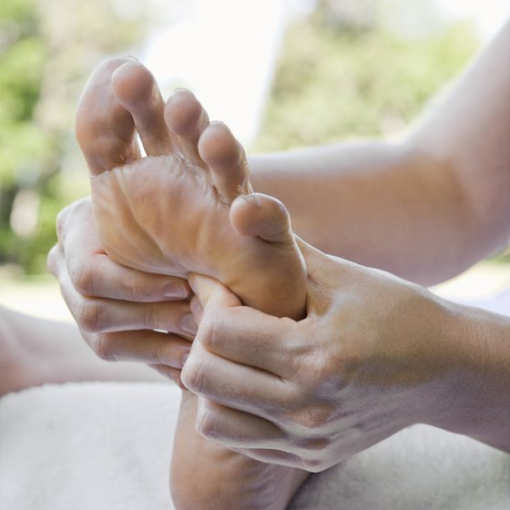 Cramps can cause a feeling of tightness in the foot muscles.
