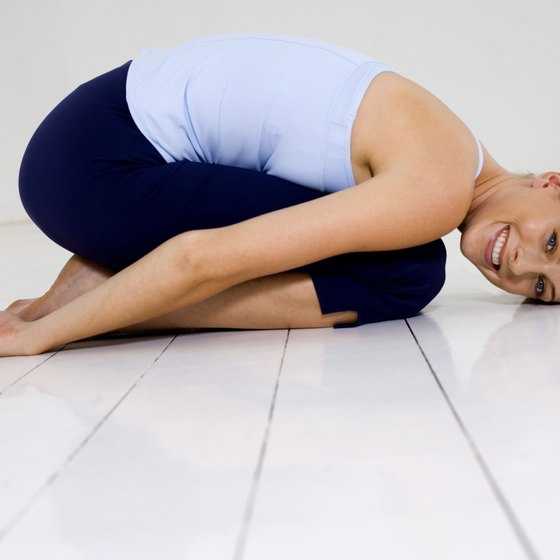 Yoga can help you release stress and relax.