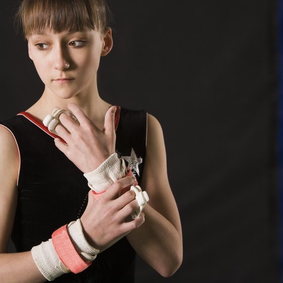 Wrist injuries are commonly found in gymnasts.