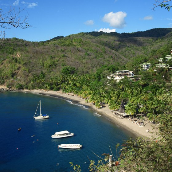 Anse Chastenet bay is typical of St. Lucia's unspoiled quality