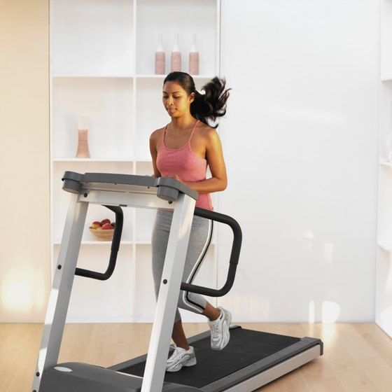 Electric treadmills may include heart rate monitors and other electronic features.