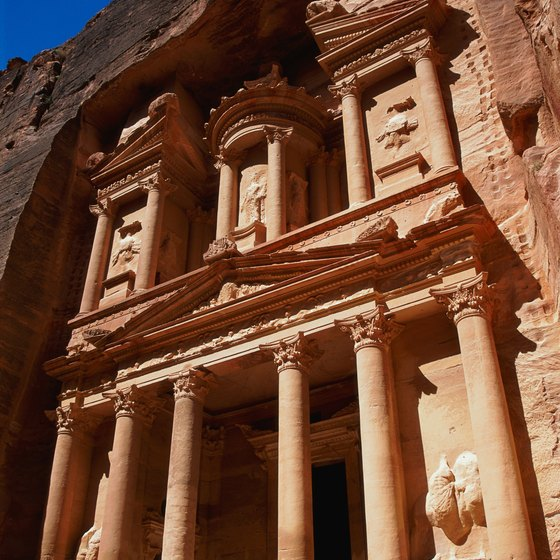 The ancient Jordanian city of Petra was once defended by Laurence of Arabia.
