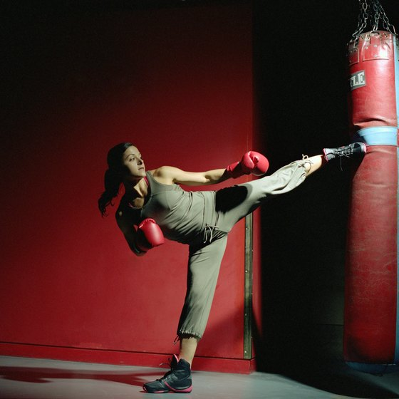 Many muscles are used to perform kickboxing techniques.