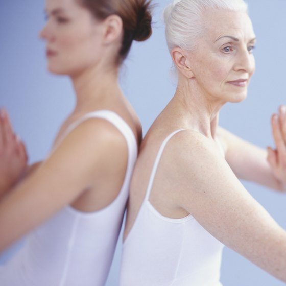 The elderly can enjoy the benefits of yoga while seated in a chair.