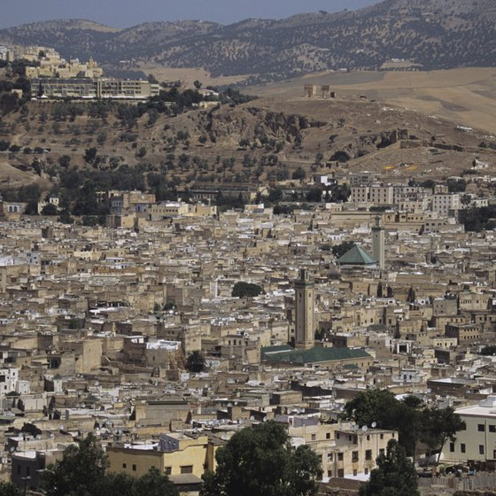 Visit Morocco's major cities, including Fez, by train.