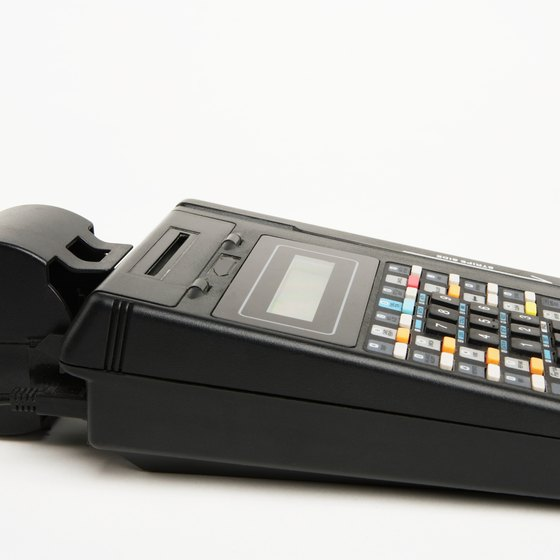 Your Hypercom credit card machine processes a variety of credit and debit transactions.