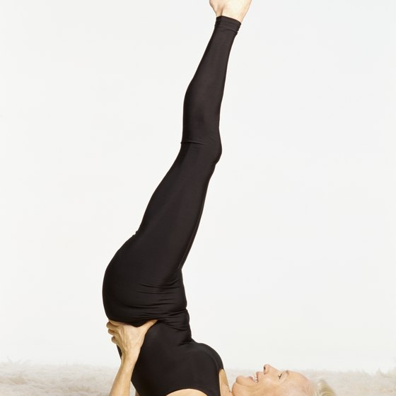 Shoulder Stand stretches your shoulders, spine and neck.