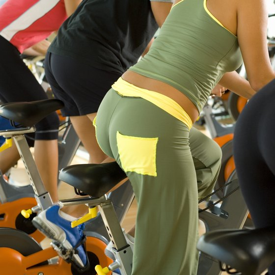 Regular exercise can help reduce fat that accumulates around the butt.