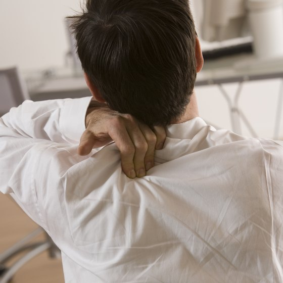 An elevated shoulder posture can cause chronic shoulder and back pain.