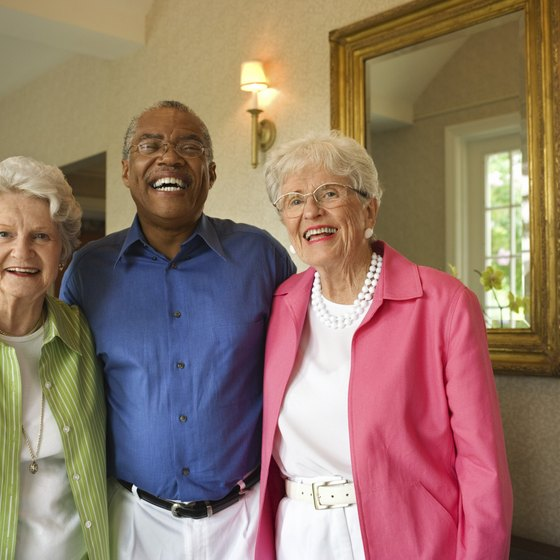 Residents enjoy companionship in senior communities.