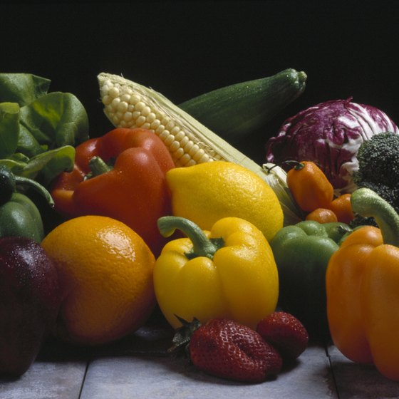 Peppers, spinach and cabbage are all sources of vitamin C.