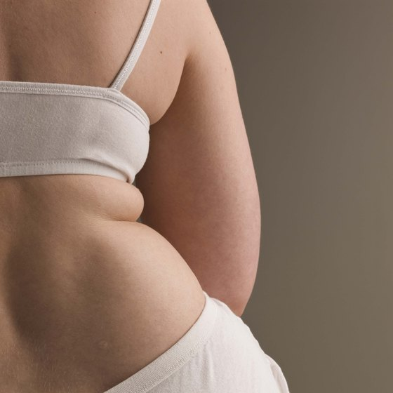 Lower back fat presents health concerns.