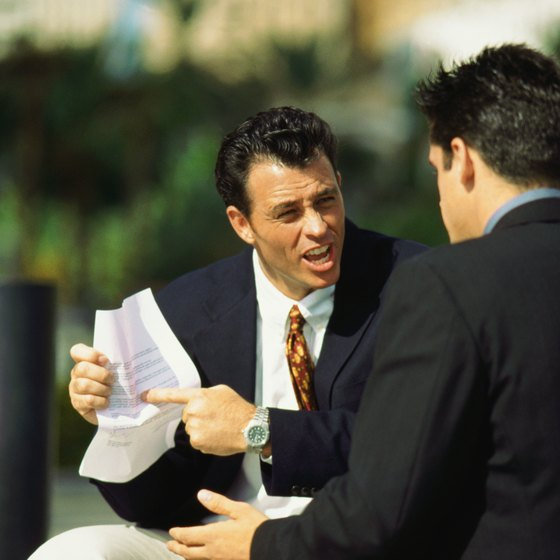 Disagreements between business partners can occur.