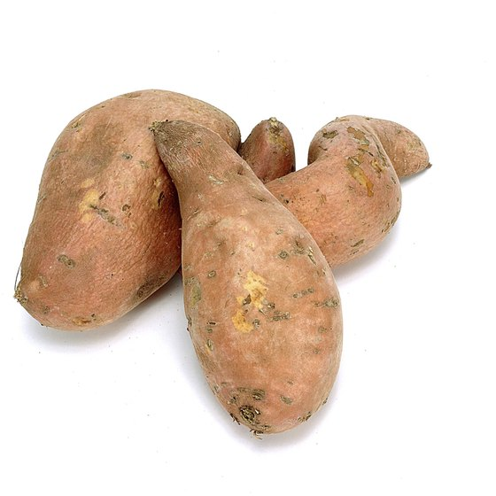 Sweet potatoes get their yellow-orange color from beta-carotene.