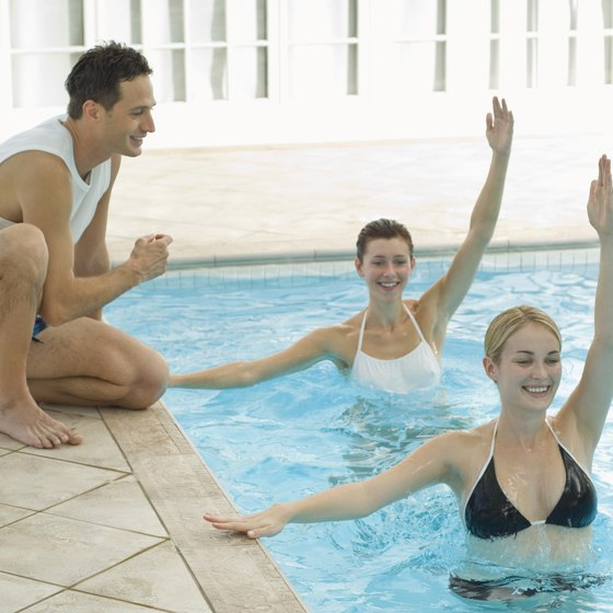 Water aerobics keeps you cool when exercising in the summer.