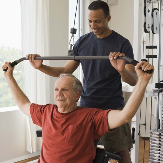 Lifting weights can help you maintain muscle mass.