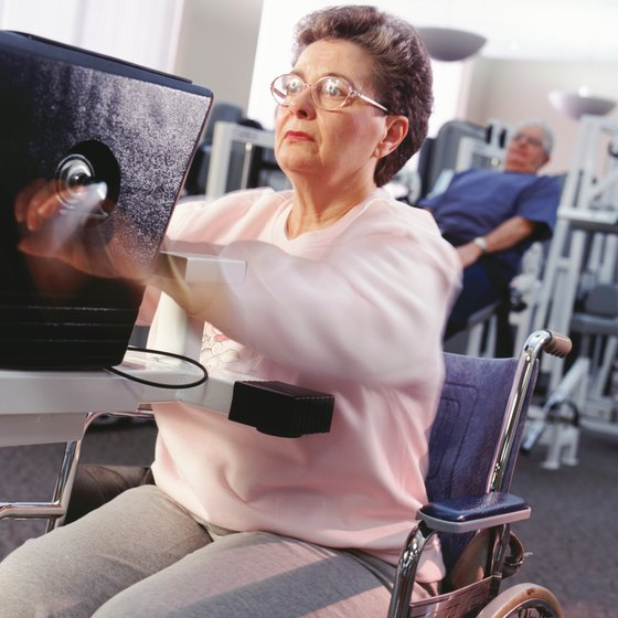 Wheelchair-bound patients can perform strengthening exercises.