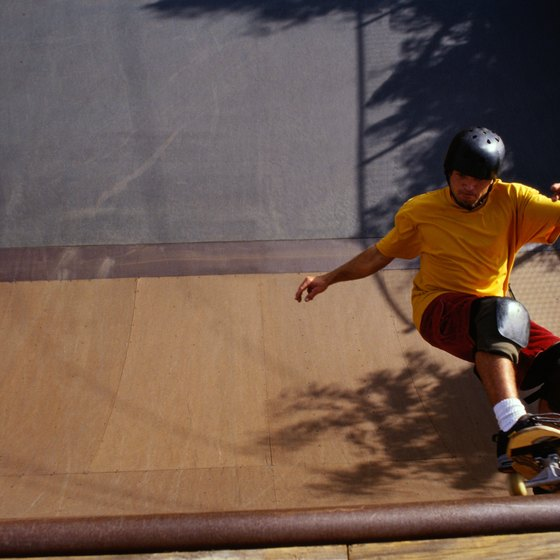 Skate parks provide recreational benefits for children and teenagers.