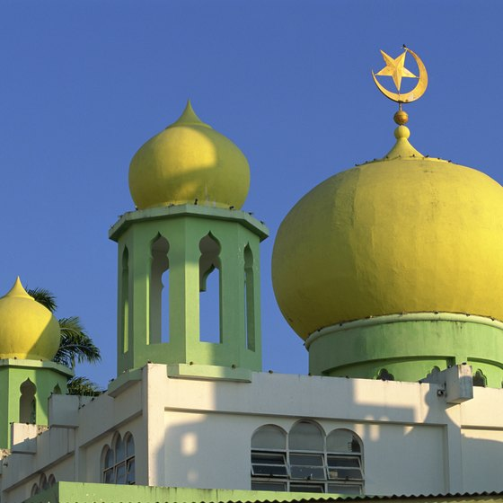 Spend the day in a colorful mosque in Malaysia.