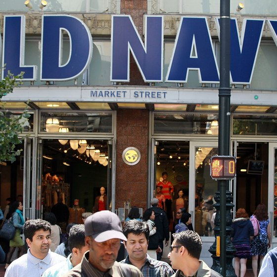 Apparel retailer Old Navy uses all-caps for its text-based logo.