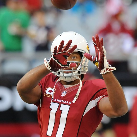 Larry Fitzgerald prepares to catch a pass for the Arizona Cardinals.