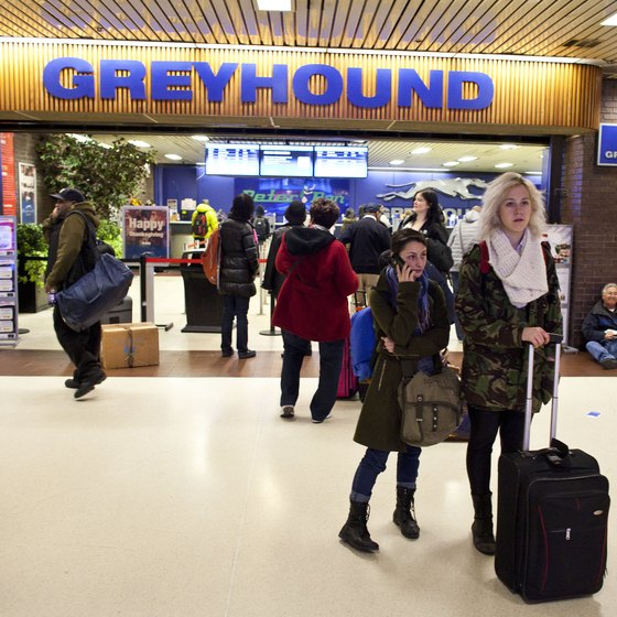 You can grab your tickets from a Greyhound counter.