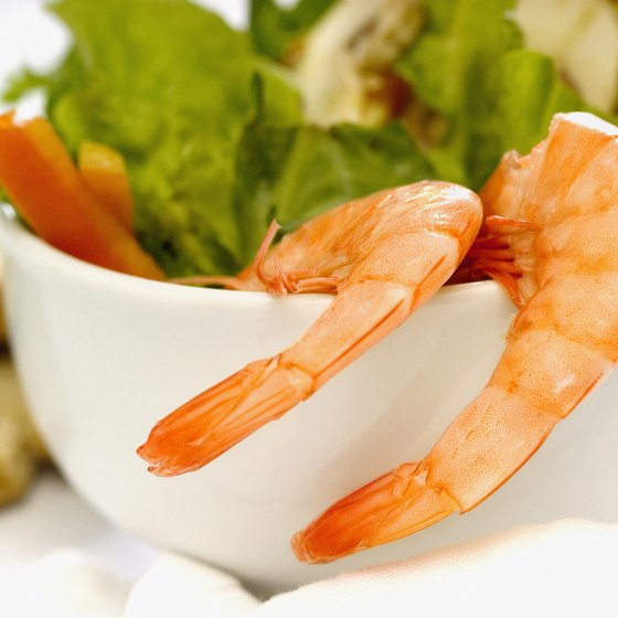 Shrimp contain varying amounts of natural sodium.
