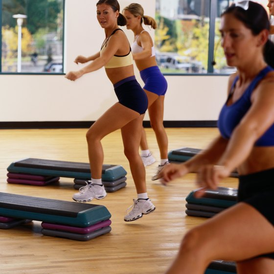 Step aerobics can be a powerful workout.