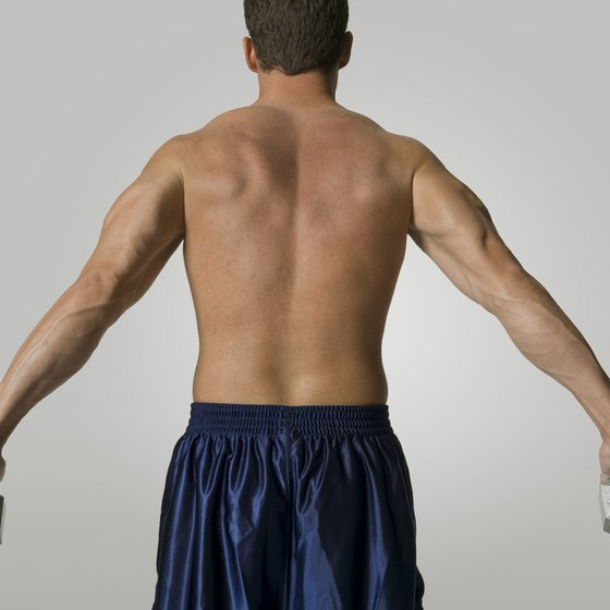 Build strong lats with hand weights.