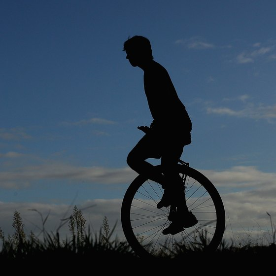 Exercising on a unicycle is great for your body.