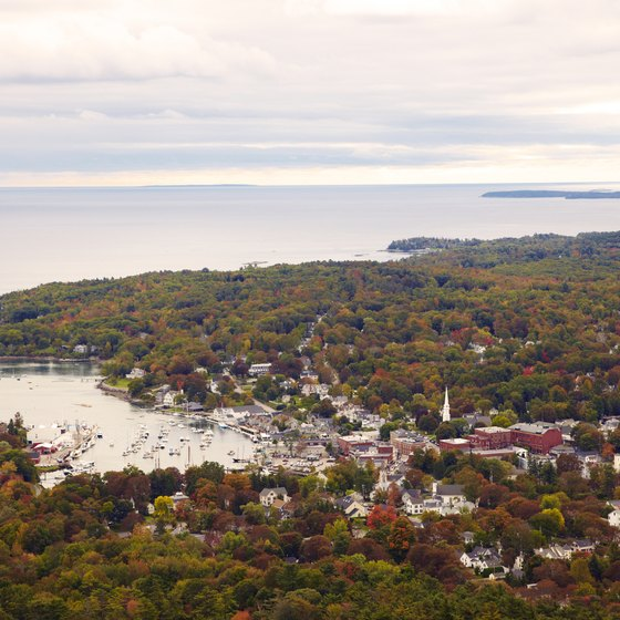 A view of Camden and Penobscot Bay from Camden Hills State Park in Maine