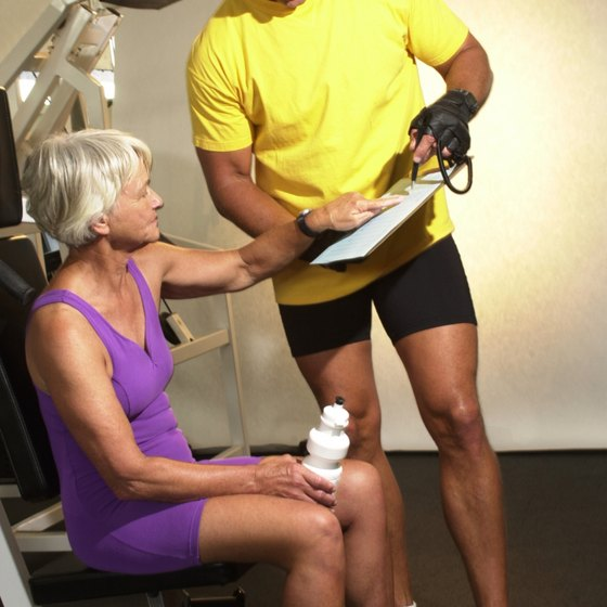 Use an exercise chart for future reference when working out with a personal trainer.