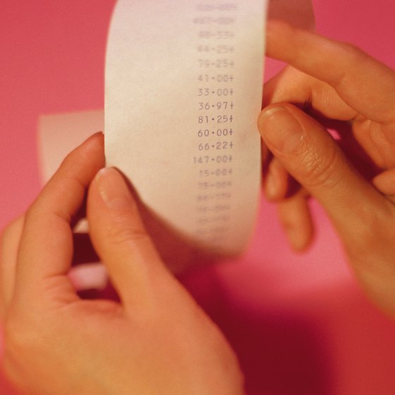 Paper receipts and gross receipts are not the same.