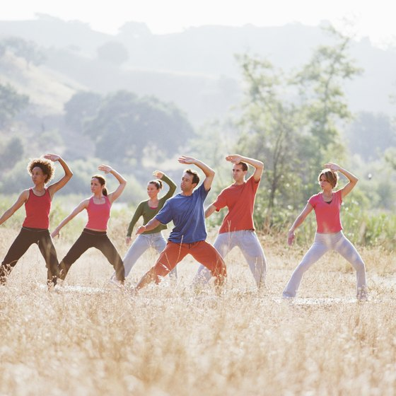 Tai chi requires proper posture and controlled breathing.