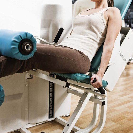 Machines can help you strengthen your legs.