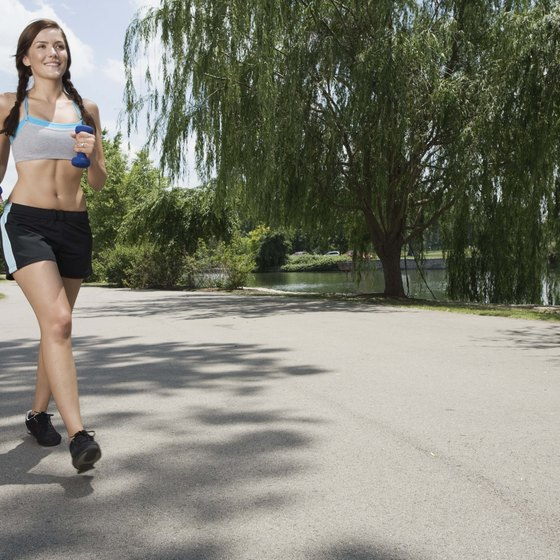 Popular aerobic exercises such as jogging help improve heart health.