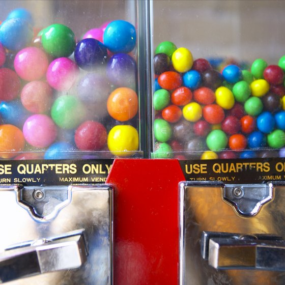 Vending machines with novelty candies appeal to teens.