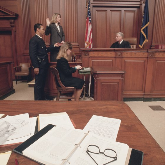 Some depositions do occur in court.