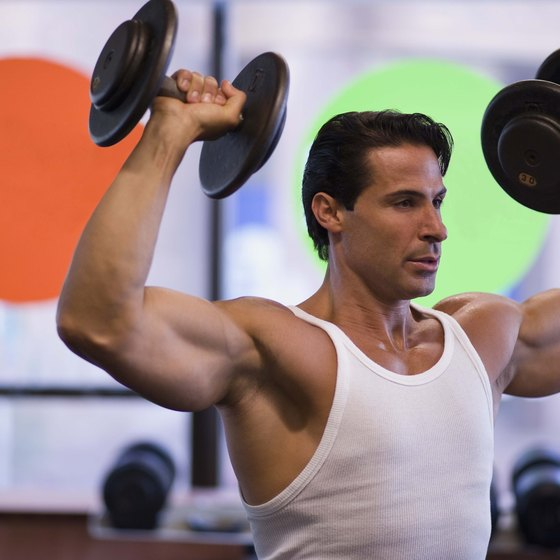 Overhead presses develop shoulders.