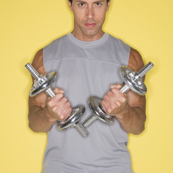 Dumbbells help you train different types of fitness.