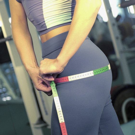 Larger gluteal muscles create the illusion of wider hips.