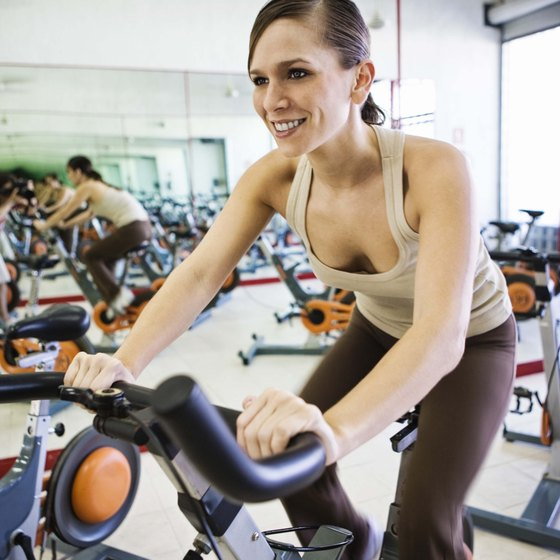 Indoor cycling tones your legs and glutes.
