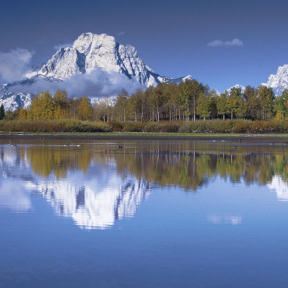 Wyoming's Teton Range lies just south of Yellowstone National Park.