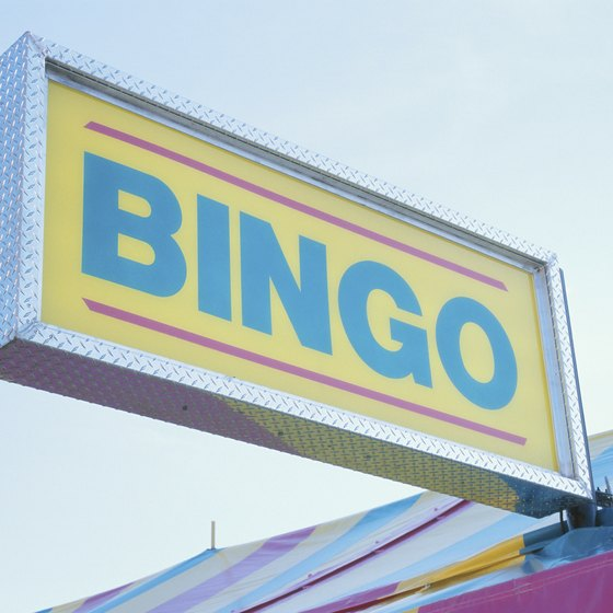 A sign at the site of the Bingo game is a popular promotional tool.