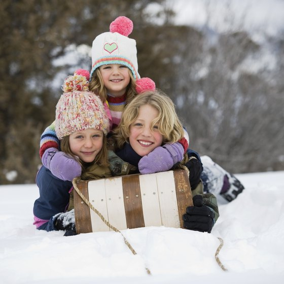 Sledding is a fun winter activity for kids of all ages.